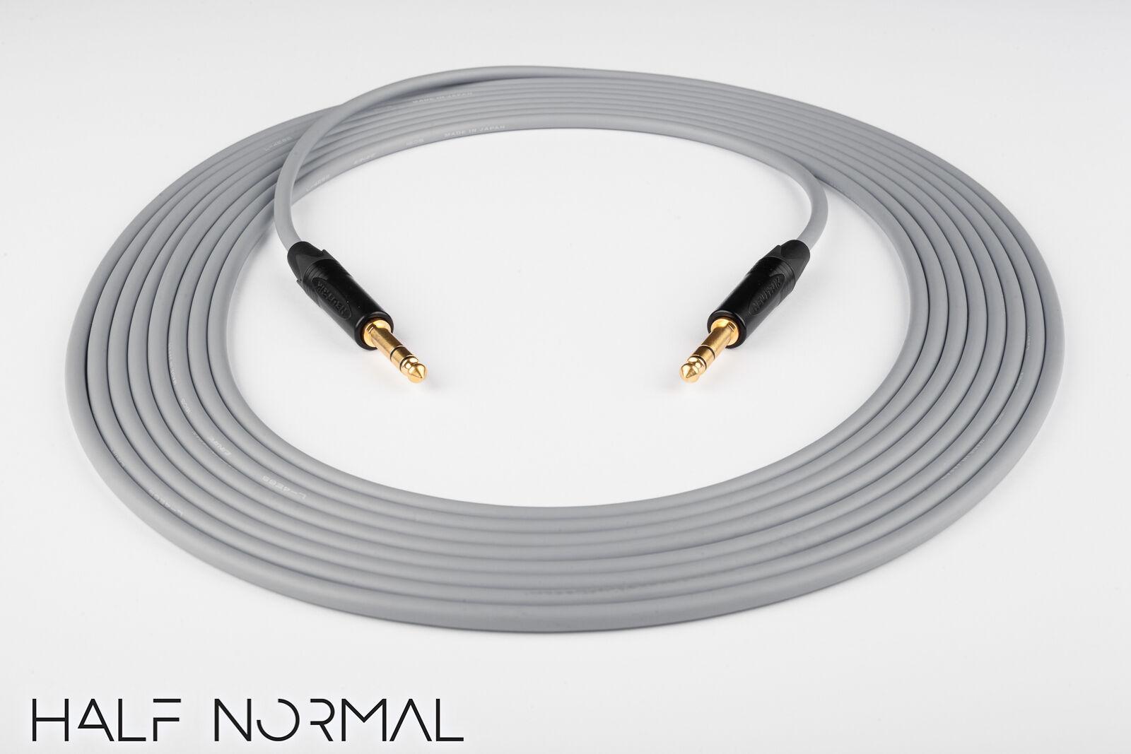 25' Canare L-4E6S Quad Quad Quad Equilibrado Cable Neutrik 1 4  Trs Para 1 4  TRS oro gris 99eec9