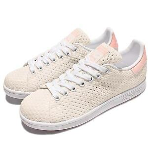 Image is loading adidas-Originals-Stan-Smith-W-Mesh-White-Pink-