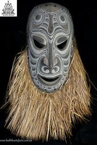 Powerful Fine Vintage Carved Tambanum House Mask, Angoram, PNG, Papua New Guinea