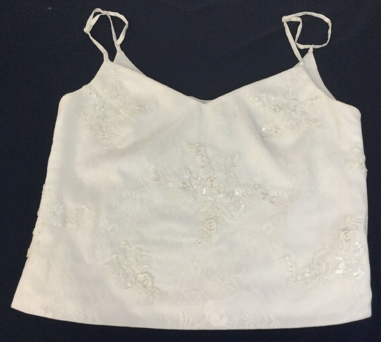 Liberty And Lace Petite Sequin And Lace Zip Back Top Sz 8
