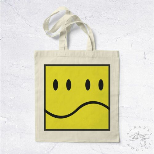 NEW Tote Bag Double Smiley BIO Twin Emoji Cartoon Yellow Candy Cute Nice Happy