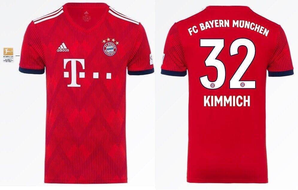 Trikot Adidas FC Bayern 2018-2019 Home BL- Kimmich Kimmich Kimmich 32  Bundesliga f482d8