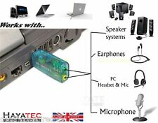 |3.5mm Mini Jack to USB ADAPTER Headphone Mic PC External Stereo Sound CONVERTER