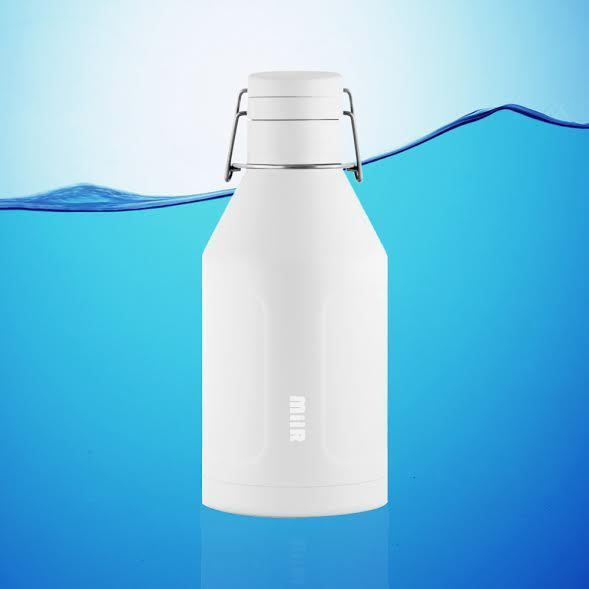 MIIR 64  OZ INSULATED GROWLER WATER BOTTLE WHITE + FREE SHIP    low price