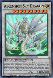 Yu-Gi-Oh /> Ascension Sky Dragon /< LEHD-De Allemand ultra rare 1 édition reprint!