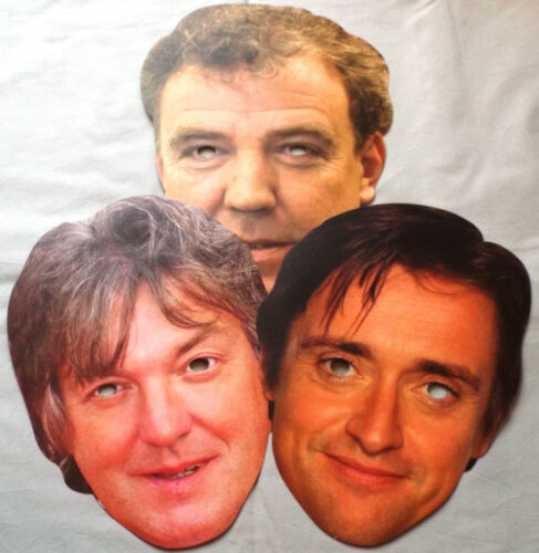 Richard /& James Celebrity Face Masks Great for Parties The Grand Tour Jeremy