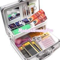 False Eyelash Individual Extension Micro Brush Patch Glue Tools Kit Box Case Set