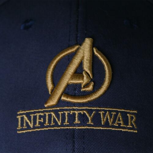 Infinity War Crew Hat Equip Embroidered Gauntlet Cap Avengers Superhero Hat New