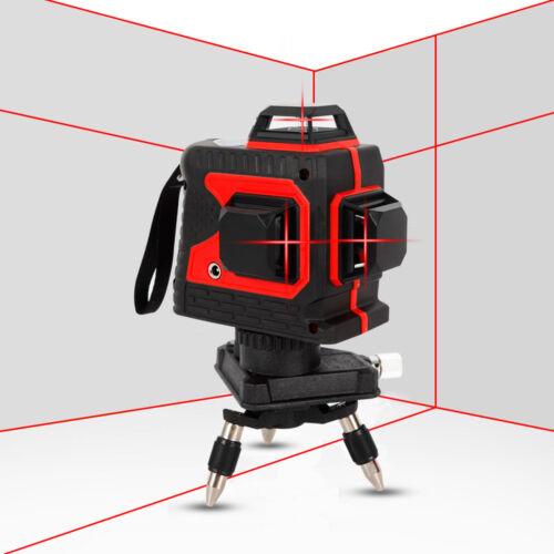 12 Lines 3D Laser Level Self Leveling 360° Laser Beam Line Engineering Grade USA