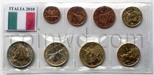 #2324 Italy 8 euro coins set 2010