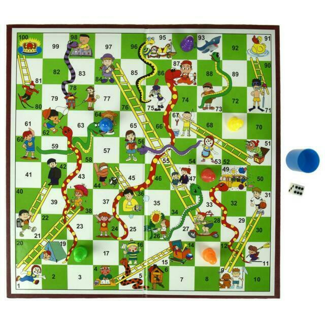 Snakes & Ladders Board Game Traditional Children Games X 1 Gift UK SELLER  for sale online | eBay