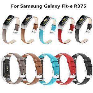 Echtes-Leder-Armband-Uhr-Strap-Ersatz-Fuer-Samsung-Galaxy-Fit-e-R375-Smartwatch