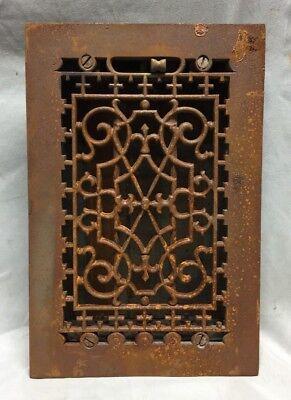 One Antique Cast Iron Decorative Heat Grate Floor Register 6X10 Vintage 33-19C