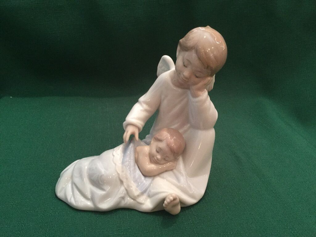 Lladro My Guardian Angel 06961 Blau With Box And Signed in 2010