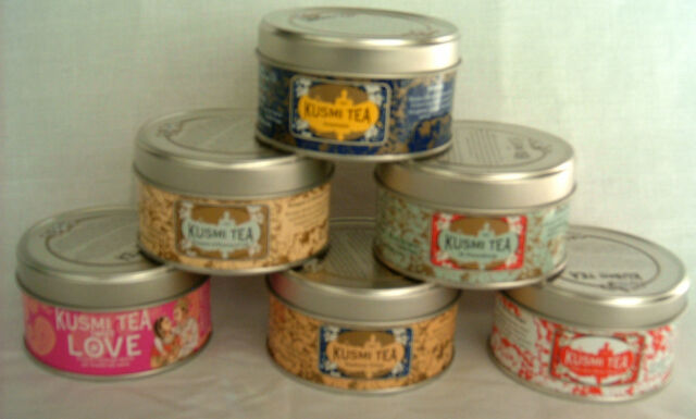 Cookie Tin - Miniature Storage - 6 in set - great for loose leaf teas, spices