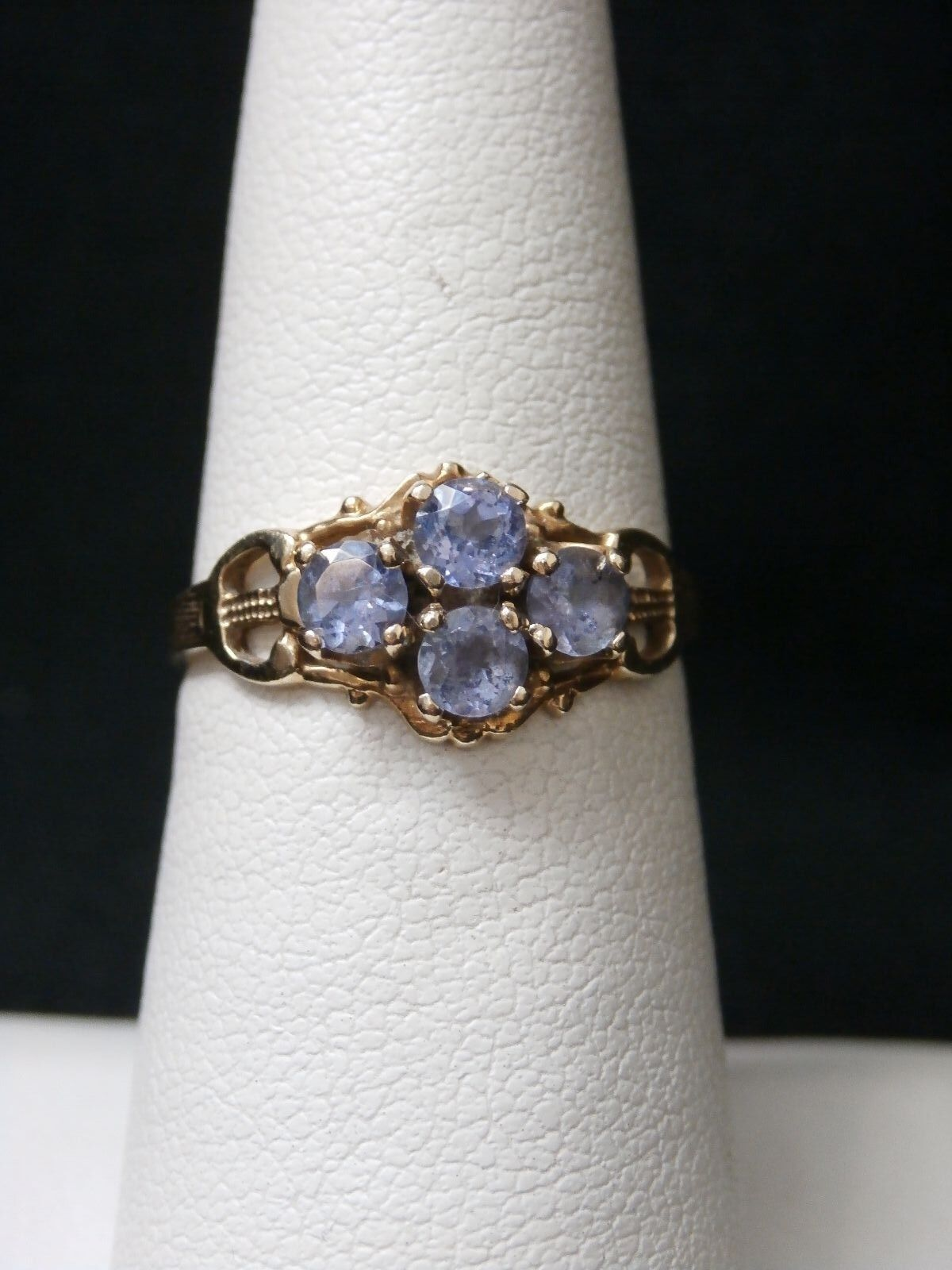 Unique 10k Yellow gold Tanzanite Dainty Handmade Ring. Make Offer