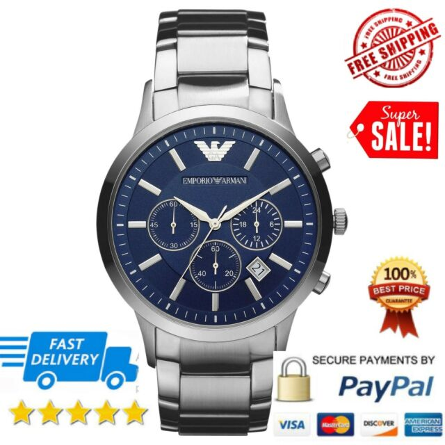 AR2448 Emporio Armani Gents Classic Blue Dial Watch