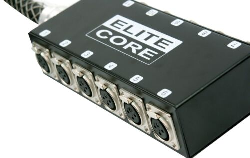12 Channel 30 ft Drop Sub Snake for PA Stage Mic/'s By Elite Core Drums