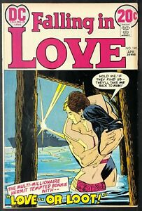 FALLING-IN-LOVE-140-SWIMSUIT-COVER-Mike-Sekowsky-DC-Romance-Comic-Book-FN-1973