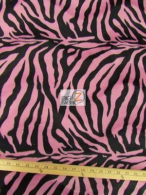 Orange//Black Big Stripe VELBOA FAUX FAKE FUR ZEBRA ANIMAL SHORT PILE FABRIC