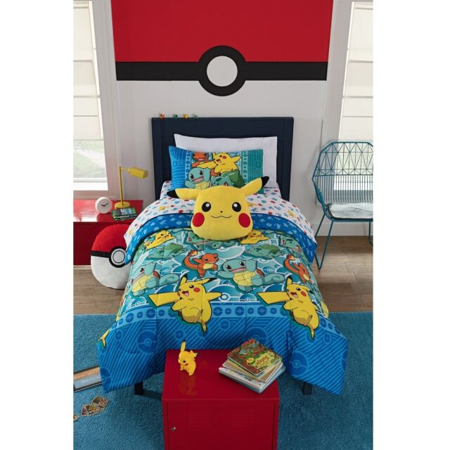 Twin Bed Bedding Sets.Pokemon Bedding Set Twin Bed In A Bag 4 Piece Kids Comforter Sheets Pillowcase