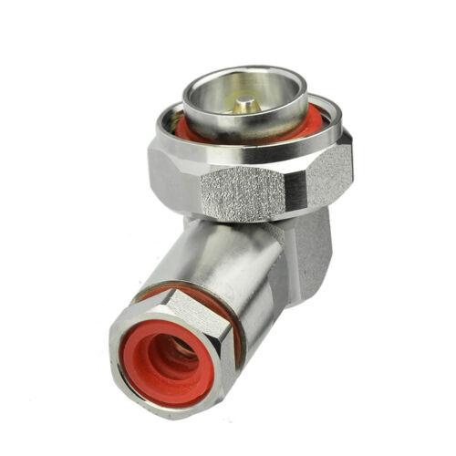 """3x 90deg 7//16 Din Male Clamp Plug RA Corrugated copper 1//2/"""" cable Super Flexible"""