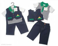 Baby Boys Clothes 3 Piece set Trousers waistcoat T shirt NB-6mth little-miracles