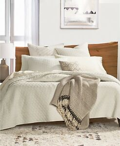Lucky-Brand-Home-Vintage-Wash-Quilted-FULL-QUEEN-Coverlet-IVORY-250-I1174
