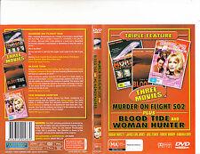 Murder On Flight 502-1975-Farrah Fawcett/Blood Tide/Woman Hunter-3 Movie-DVD