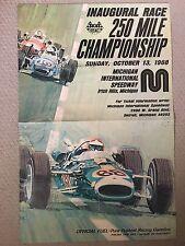ORIGINAL *RARE* 1968 U.S.A.C 250 MILE CHAMPIONSHIP INDY CAR RACE POSTER