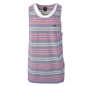 Vans-Off-The-Wall-Men-039-s-Blue-Red-Striped-Sleeveless-Tank-Top-S09-Retail-30