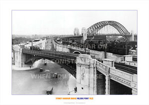 SYDNEY-HARBOUR-BRIDGE-MILSONS-PT-1932-HERITAGE-A3-POSTER-PRINT-PHOTO-PICTURE-x