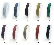 0.7mm Tiger Tail, Nylon Coated Stainless Steel Wire, Beading Wire, 10 meters