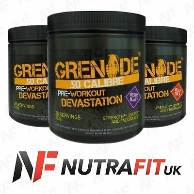Grenade 50 Calibre Pre-workout Devastation Energy Pump Powder
