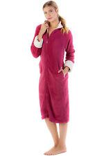 b9e9396f0d Casual Nights Women s Zip Front Warm Plush Fleece Lounge Duster Lounger Robe