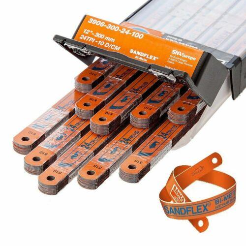 """Hacksaw Blade Bahco 300MM 12/"""" Sandflex Bi-Metal Blades 18,24,32 TPI Many Packs"""