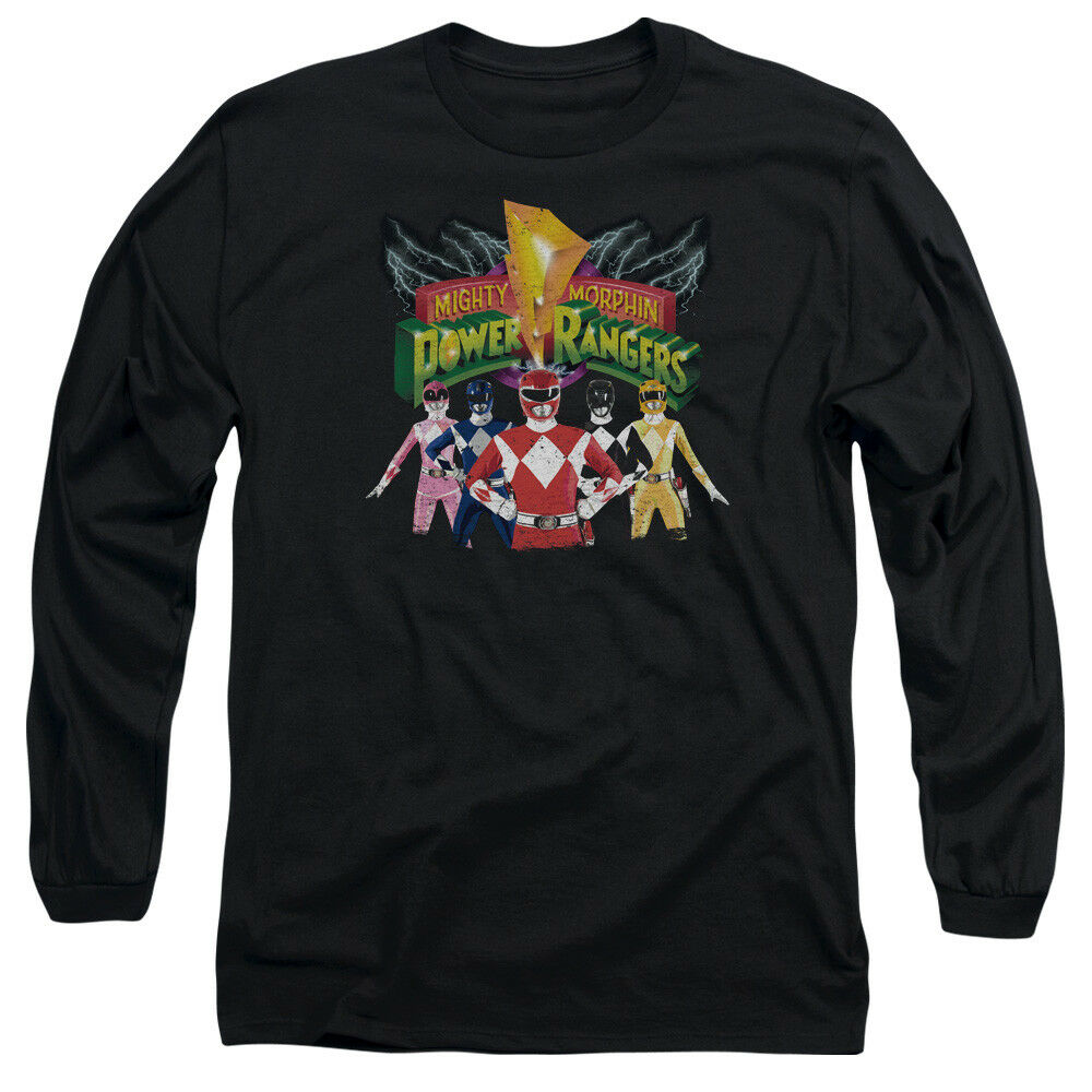 Mighty Morphin Power Rangers RANGERS UNITE Adult Long Sleeve T-Shirt S-3XL