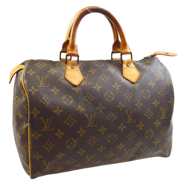 LOUIS VUITTON SPEEDY 30 HAND BAG PURSE MONOGRAM CANVAS M41526 852MB 30284