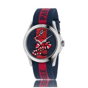 126c9b17271 New Gucci Le Marché Des Merveilles Blue   Red Nylon Strap Unisex ...
