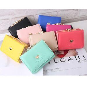 Women-Lady-Leather-Clutch-Short-Wallet-PU-Card-Holder-Handbag-Bag-US