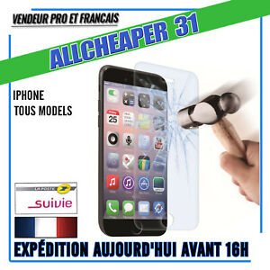 Verre-Trempe-Vitre-protection-iphone-11-X-8-6s-7-6-6-5-5s-5C-4s-Authentique