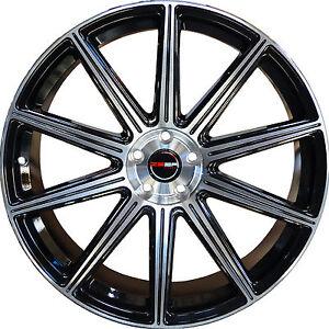 Image Is Loading 4 Gwg Wheels 18 Inch Black Mod Rims