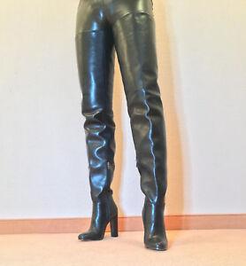 Gr-41-TOP-Exklusiv-Sexy-Damen-Schuhe-Overknee-Stiletto-Stiefel-Maenner-Boots-C6
