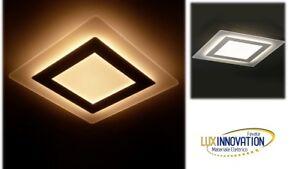 Plafoniere Quadrate Eleganti : Plafoniera moderna effetto vetro elegante quadrata da tetto led 45w