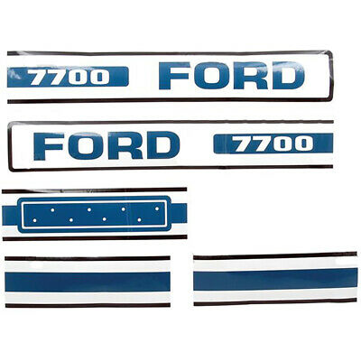 1975-1881 Hood Decal Fits Ford 7700 Tractor