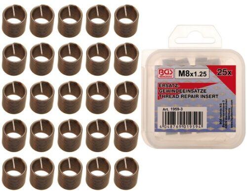 BGS 25 Ersatz Gewindeeinsätze M8x1,25 1959-3