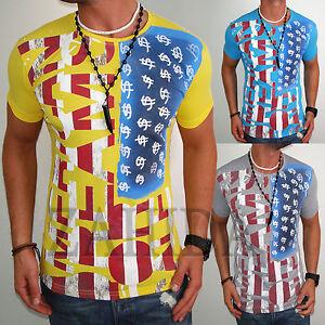 Young-amp-Rich-Herren-T-Shirt-Amerika-America-USA-Dream-Shirt-Club-Polo-Hemd-NEU