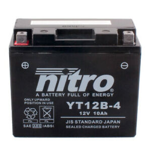 Batterie Yamaha TDM 850 4TX Bj.1996 Nitro YT12B-BS GEL geschlossen