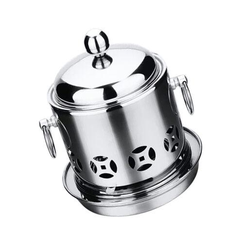 Alcool Shabu Shabu Hot Pot//Steamboat Inoxydable Alcool Poêle Pot Argent