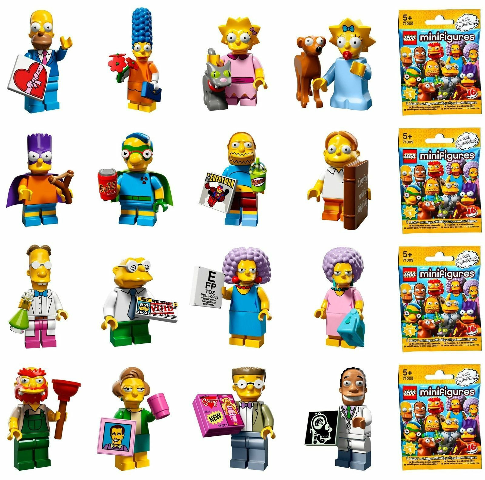 LEGO Simpsons Series 2 Minifigures  Opened to determine figure  All Borsas  NEW